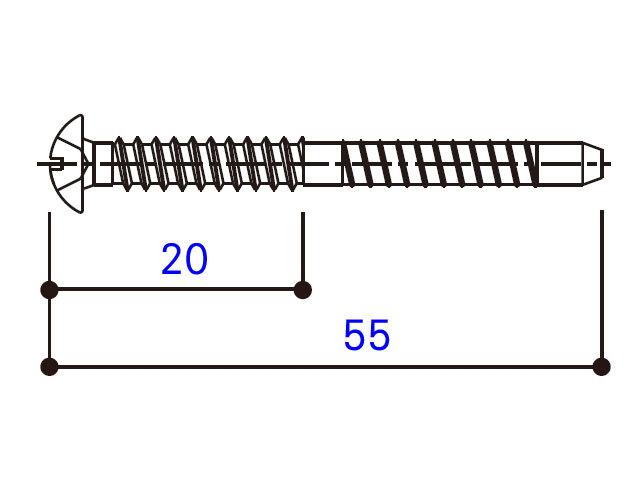 小トラスタッピングねじ 4×55 BM4055W 【ネコポス可】