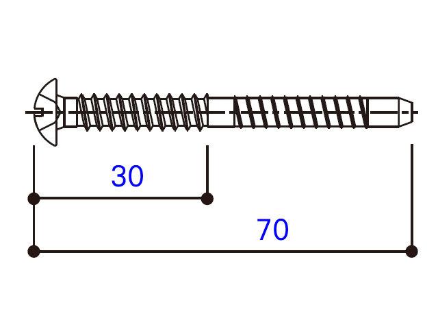 小トラスタッピングねじ 4×70 BM4070W 【ネコポス可】