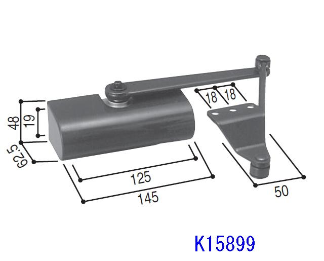 YKKアパートドア2FD用ドアクローザ K15899 【送料無料】