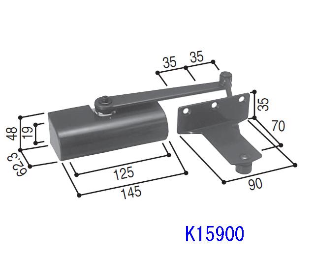 YKKアパートドア2FD用ドアクローザ K15900 【送料無料】