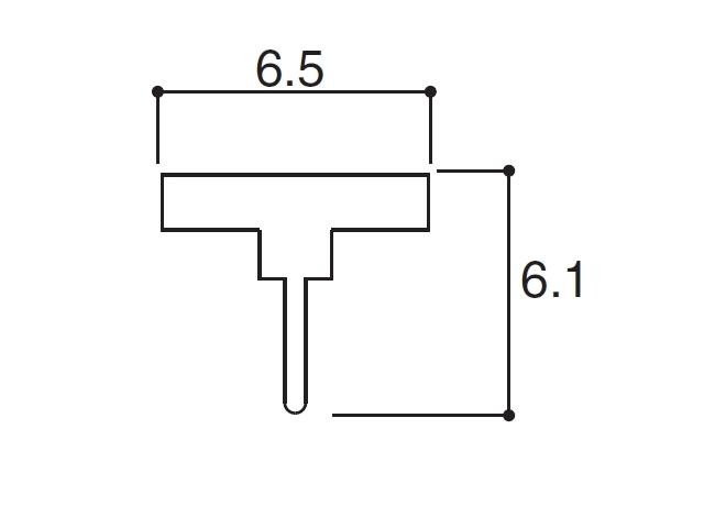 YKK ビル用網戸 虫除けゴム 6.5×6.1 K20034 【ネコポス可】