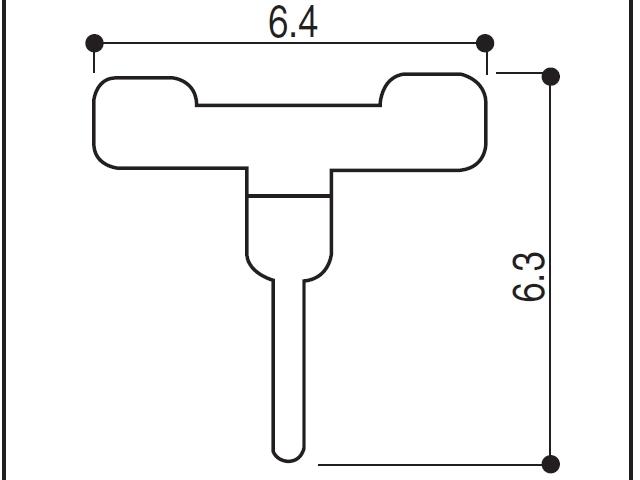 YKK ビル用網戸 虫除けゴム 6.4×6.3 K20797 【ネコポス可】