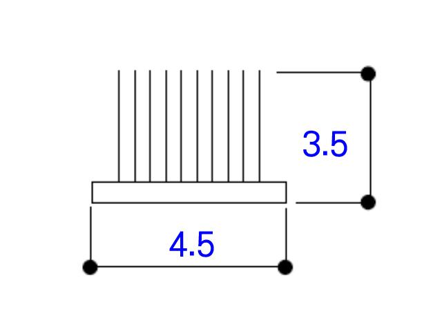 フィン付きモヘア 4.5×3.5 YKK K27130 【ネコポス可】