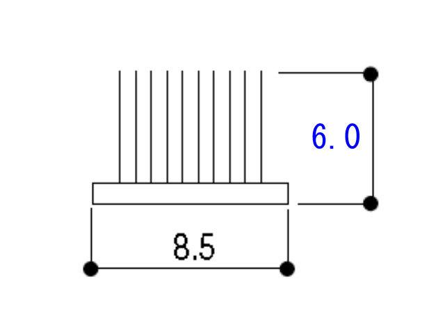 モヘア8.5×6.0 YKK K3402 【ネコポス可】