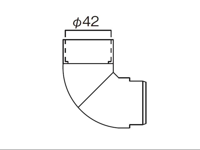 YKKΦ42雨樋自在エルボK36245