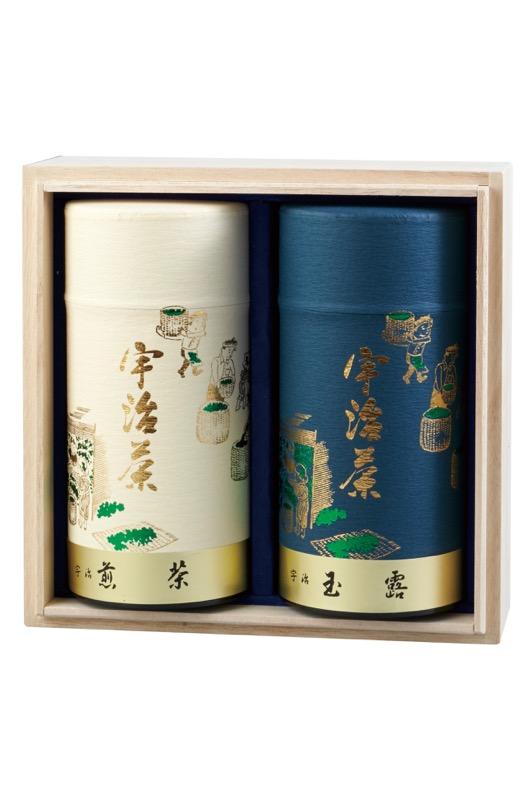 K-50 山城の露(玉露) 160g缶入り/優等煎茶(煎茶) 160g缶入り