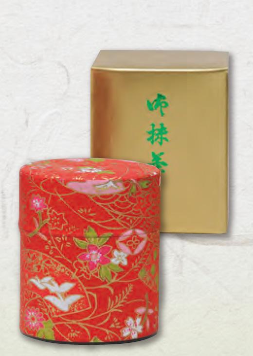 お正月用抹茶和紙缶入り