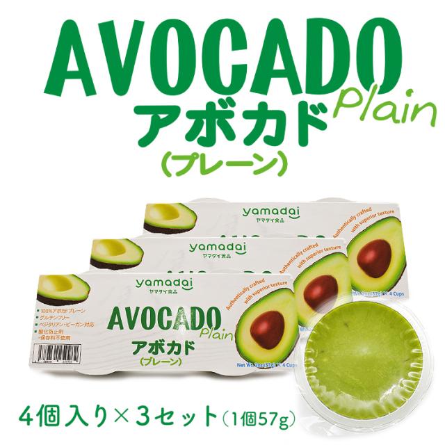 アボカド プレーン 【4個入り×3セット】
