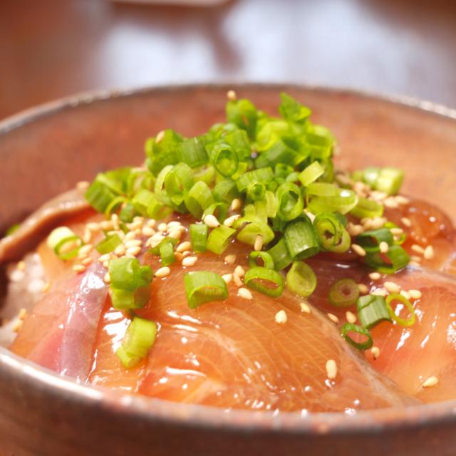 宮崎県産ブリ漬け(海鮮丼)