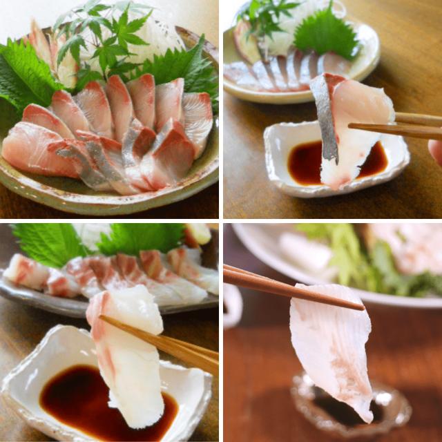活〆鮮魚少量4種ブリ・タイ・ヒラメ・シマアジセット