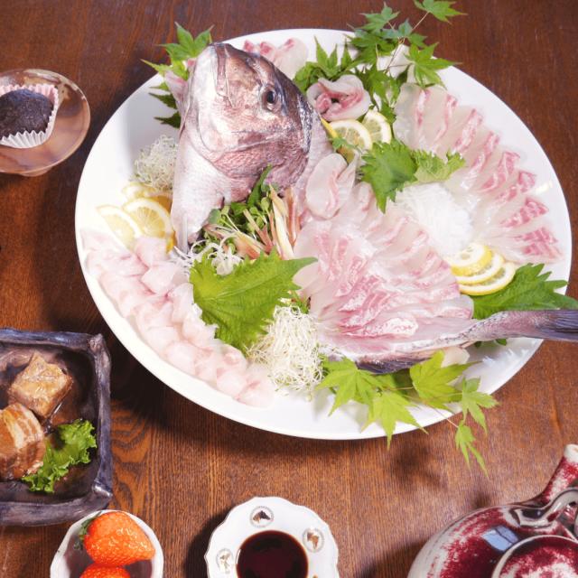 宮崎県産活〆真鯛姿造り