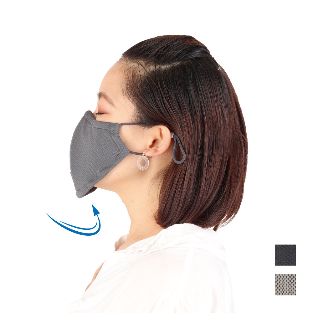 FOOTMARK スゥーッと爽快マスク 飛沫防止ブロックボタン付 3000017