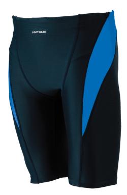 【ネコポス発送可(送料300円)】すまいるスイム 男子用ライントランクス ブルー 120cm・130cm
