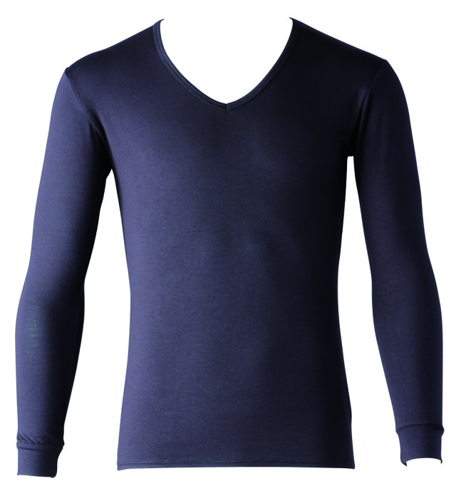 FOOTMARK あったかインナーHot SHIRTS(ホットシャツ)Vネック9分袖 403573