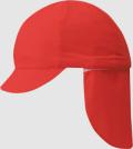 【メール便発送可(送料200円)】フラップ付き体操帽子(取り外しタイプ)LLサイズ・大きめ帽子レッドのみ カラー帽子