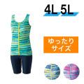【うきうき屋】大きいサイズ ゆったり水着 セパレーツ 4L・5L 256230