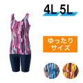 【うきうき屋】大きいサイズ ゆったり水着 セパレーツ 4L・5L 256231