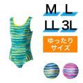 【うきうき屋】ゆったり水着 ワンピース M〜3L 256234