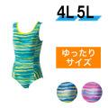 【うきうき屋】大きいサイズ ゆったり水着 ワンピース 4L・5L 256234