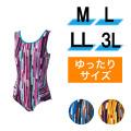 【うきうき屋】大きいサイズ ゆったり水着 ワンピース 4L.5L 256235