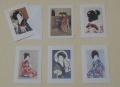 【グリーティングカード C】 美人画全6枚セット 封筒付