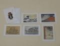 【グリーティングカード D】 赤不二含6枚セット 封筒付