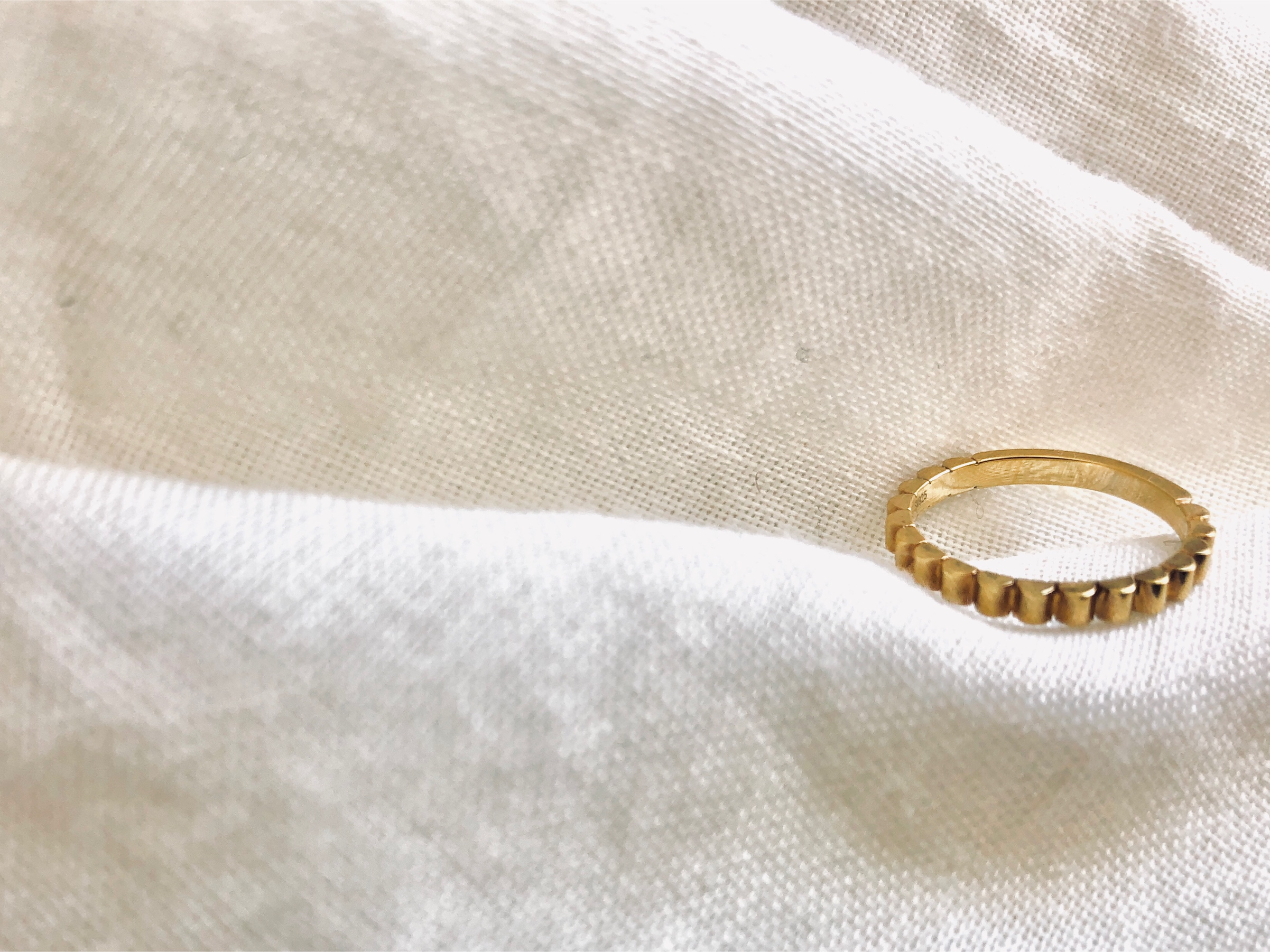 Accessory/wave gold ring 【Silver925】