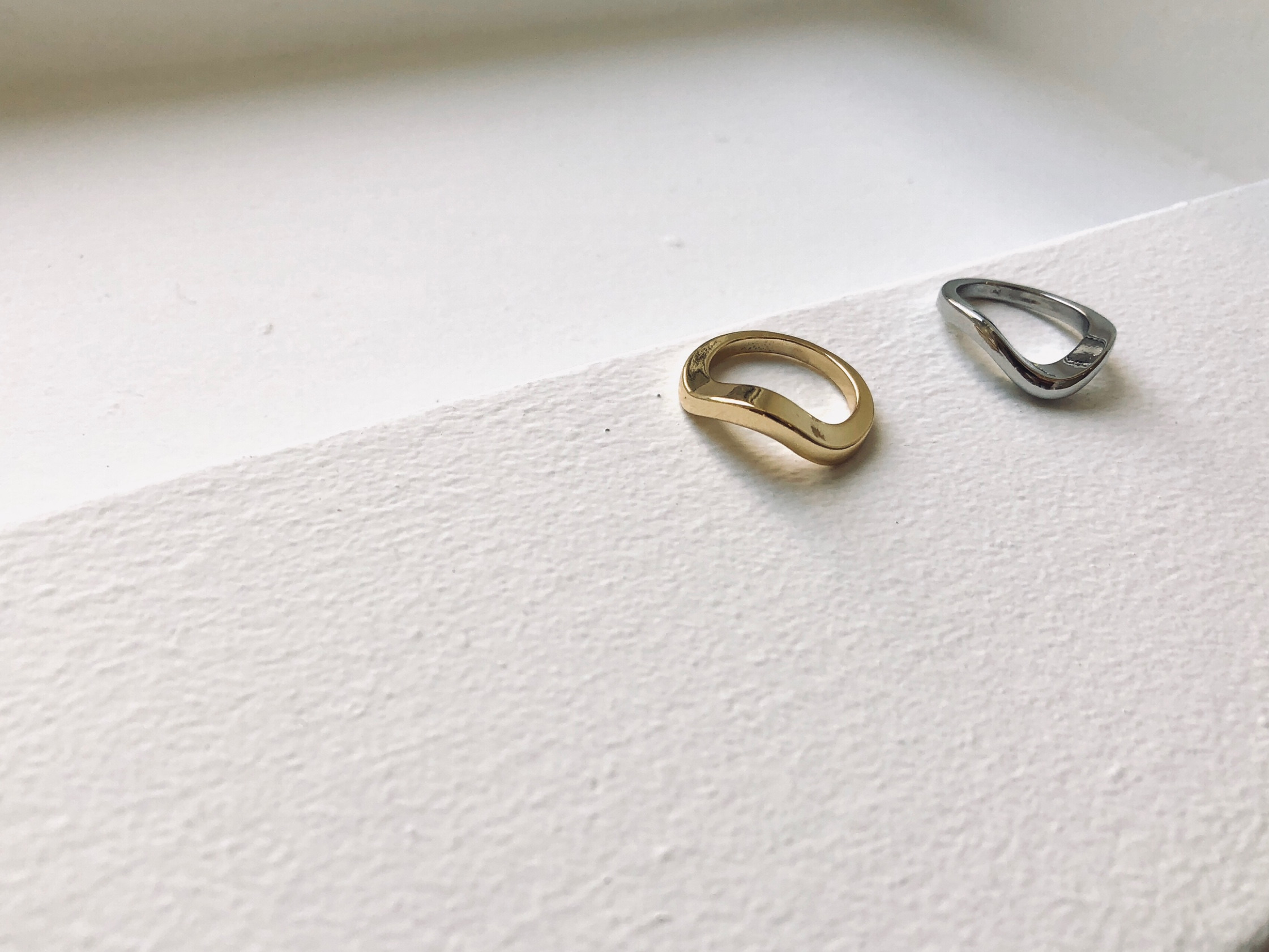 waveplatering【Silver925/18kgp】