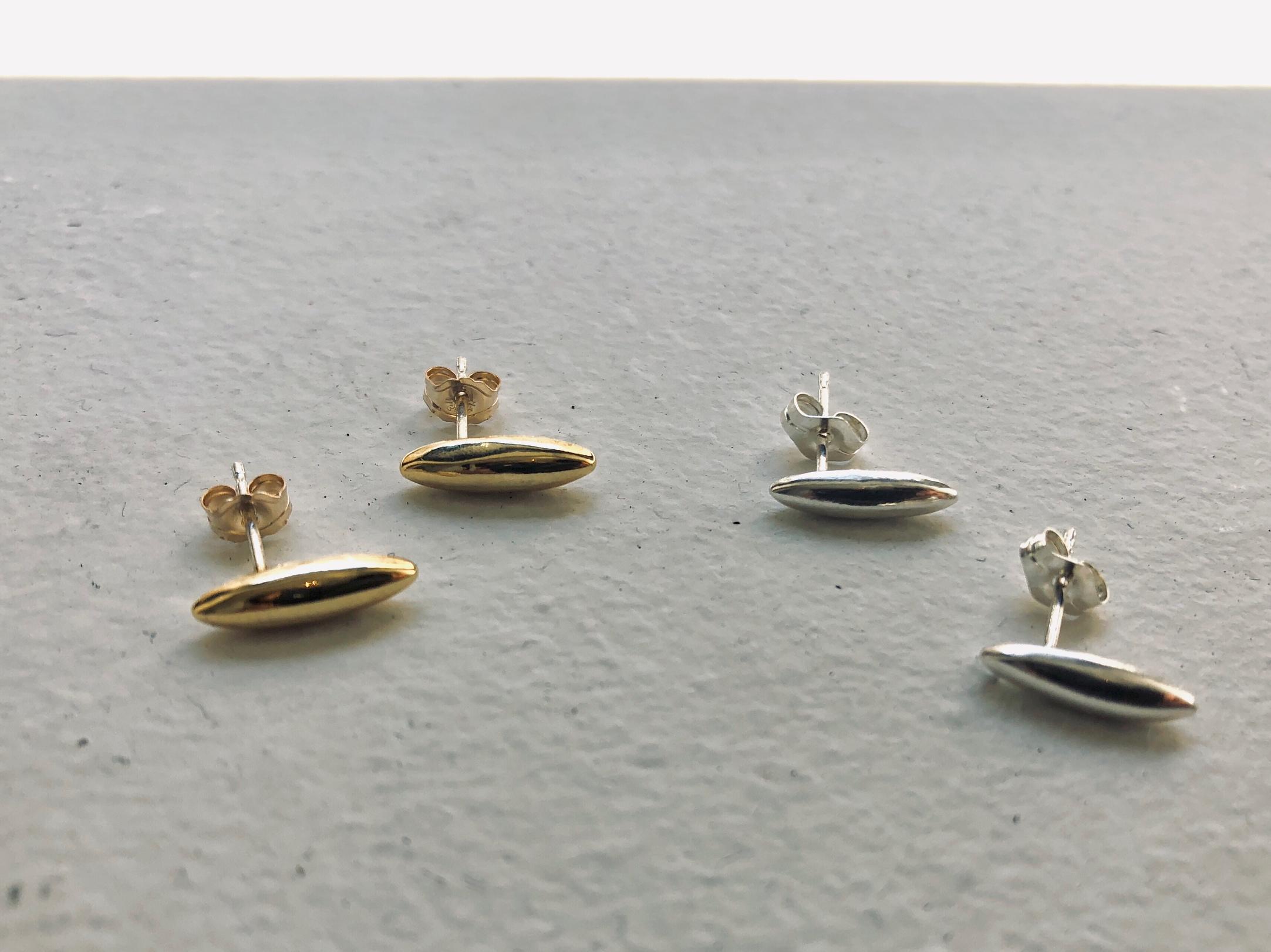 oval stick pierce【silver925/16kgp】