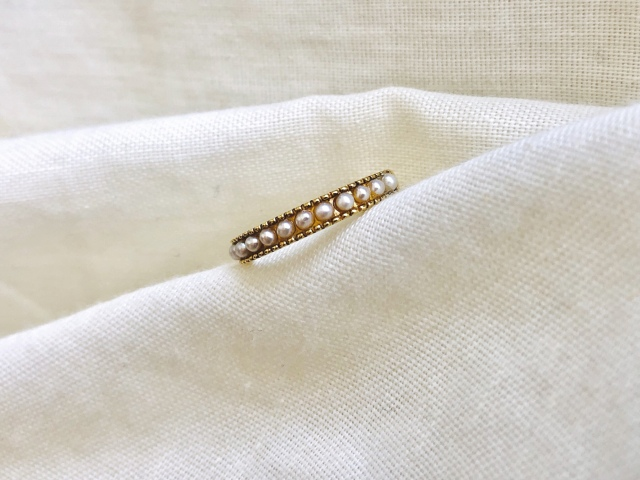Accessory/淡水baby pearl gold ring 【Silver925】