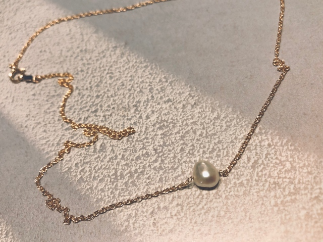 Accessory/baby keshi pearl  necklace【14kgf】
