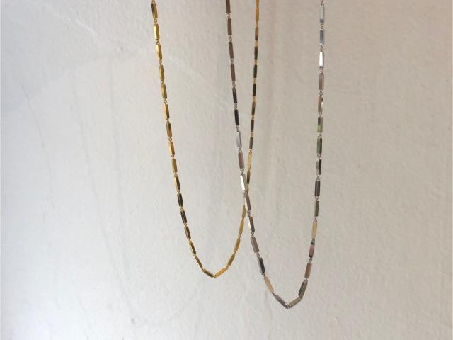 stick chain necklace【silver925】