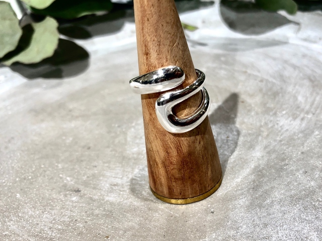 Accessory/silver design roll ring 【Silver925】