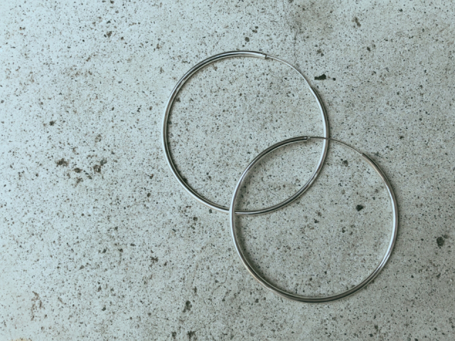 Accessory/Big hoop pierce【Silver925】