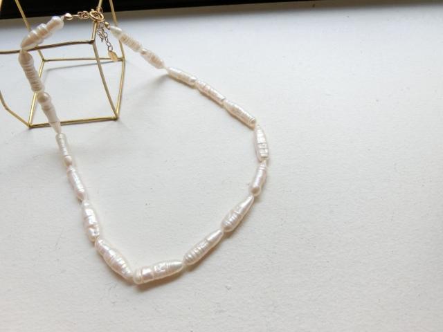 Original/Stick baroque peal Necklace