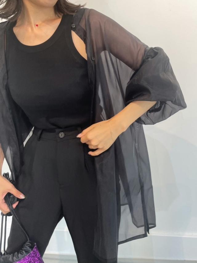 21A/W Organdy volume sleeve shirt (2color)