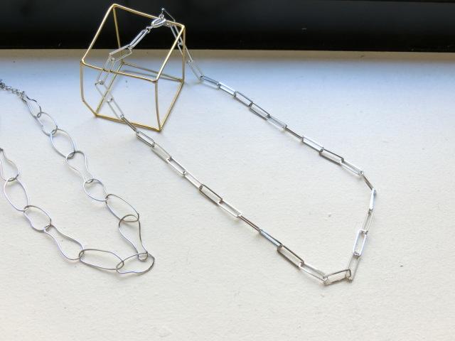 Square design chain Necklace