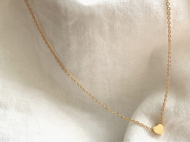 Accessory/heart metal necklace【18Kcorting】