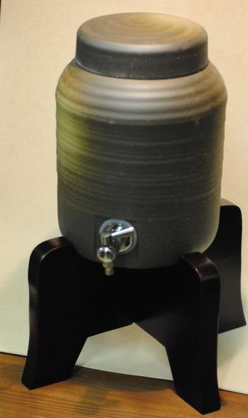 送料無料 焼酎サーバー 備前吹焼酎サーバー台付 2.4L