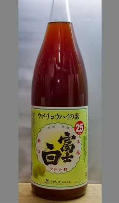 本物志向の梅果汁感たっぷりりクラフトチュウハイの素 和歌山 中野BC富士白ウメチュウハイの素1800ml