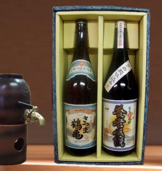 【ぴったりの贈り物】芋焼酎ギフト さつま鶴亀・養老伝説1800ml×2本箱入