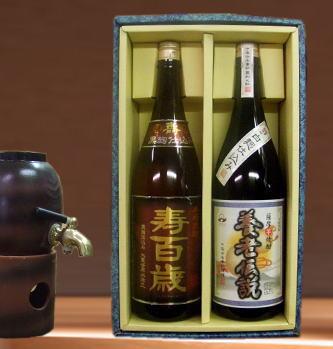 【ぴったりの贈り物】芋焼酎ギフト 寿百歳・養老伝説1800ml×2本箱入