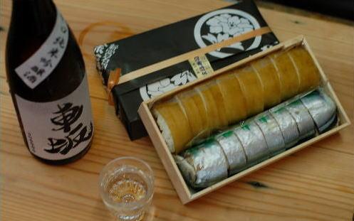 【熊野名物徐福寿司店のさんま・昆布寿司と徐福寿司よく合う日本酒