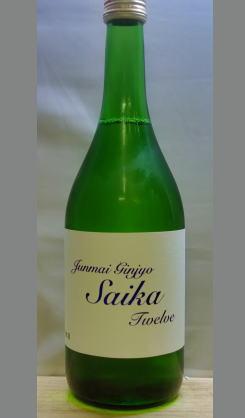 ライトな口当たりな食中酒 和歌山 雑賀純米吟醸Twelve(トゥウェルブ)720ml