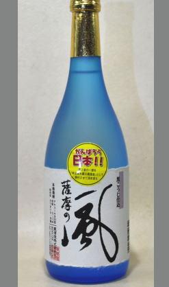 喉越し良くまろやかさがあり切れの良い上質感のある芋焼酎 東酒造 さつまの風25度720ml