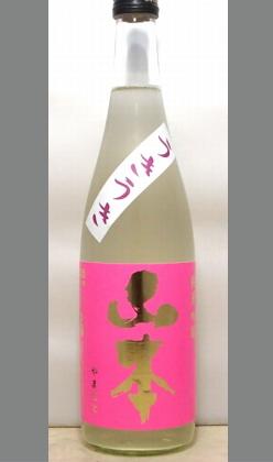 熟成あり・フルーっぽく喉越しもよく爽やかにワイングラスで飲もう!秋田 白瀑純米吟醸生酒 うきうき山本720ml