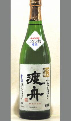 貴賓ある大人の女性をイメージさせる 茨城 府中誉 渡舟純米吟醸ふなしぼり720ml