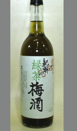 【宇治緑茶と南高梅の梅酒のヘルシー出会い・食中酒としていいよ和歌山梅酒】中野BC 緑茶梅酒 720ml
