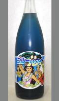 興味津々、青い日本酒ってどんな味わい??飲んでみるしかないしょ!秋田 25BY白瀑 ブルーハワイ(純米吟醸生酒)1800ml