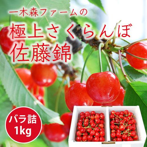 [送料無料]極上さくらんぼ佐藤錦1kg[バラ詰]
